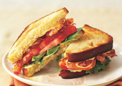 Pancetta, Mizuna, and Tomato Sandwiches with Green Garlic Aioli | Rec ...