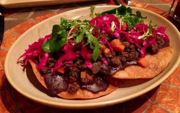 Beef Tostada at Mateo's in Healdsburg | Food | Pinterest