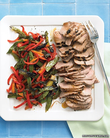 Broiler Soy-Glazed Pork with Rice and Asian Vegetables? Yum!!!