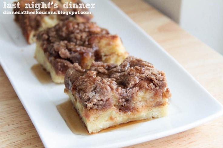Cinnamon Baked French Toast | Breakfast recipes | Pinterest