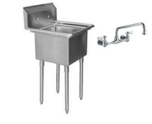 24x24 Mop Sink : Stainless Steel 1 One Compartment Utility Prep MOP Sink 23 x 24 with ...