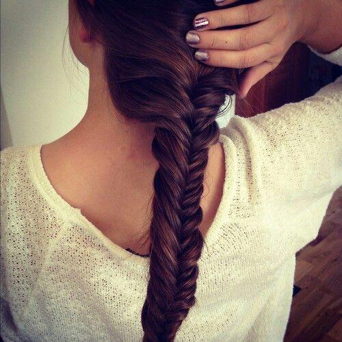 ... fishtail braid♥♥♥ | easy n beautiful hairstyles | Pinterest