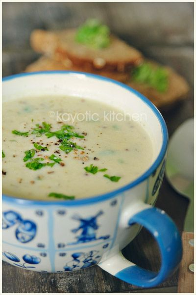 Creamy Asparagus Soup. I used green asparagus and a little cream ...