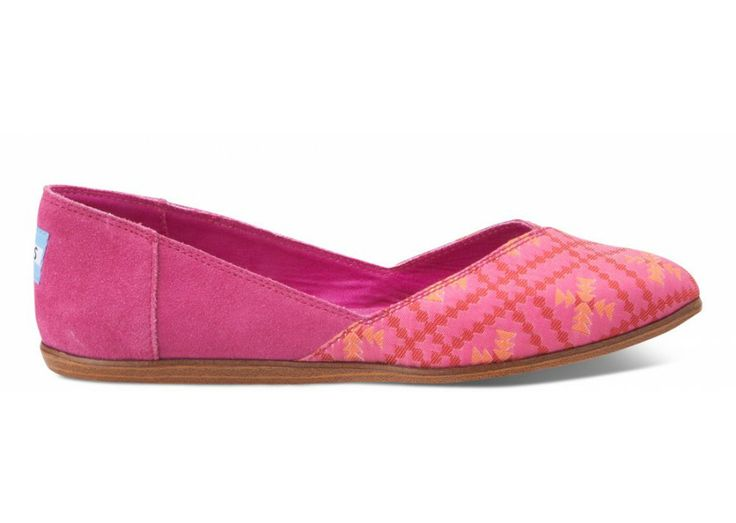 We're getting colorful over here. TOMS Jutti flats