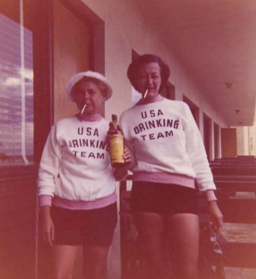 usa drinking team The one on the right reminds me of my grandma;)