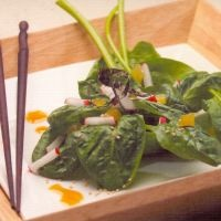 From the land of the rising sun, an exotic salad with fresh spinach and pungent and spicy ginger submitted by Thijs on #lovemysalad