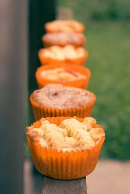 Peach Pie with Brie - Cupcake Style