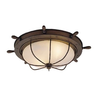 vaxcel lighting of25515rc 2 light nautical flush mount ceiling light. Black Bedroom Furniture Sets. Home Design Ideas