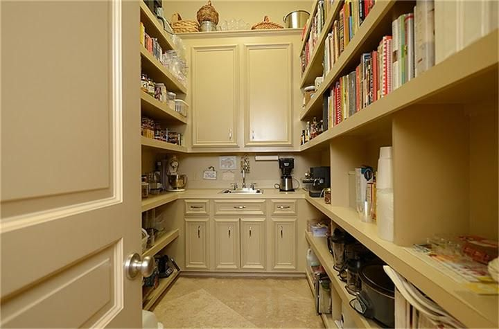 Pin by leora schneider on rooms the pantry pinterest for Large walk in pantry