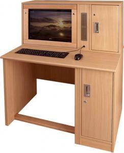Secure Computer Desk | Institutional | Pinterest