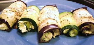 Pesto 'Ricotta' Stuffed Zucchini Rolls - Paleo