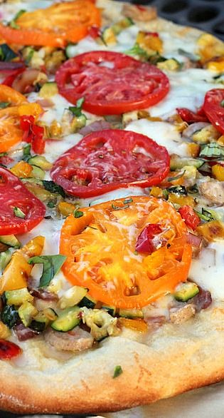 Grilled Summer Vegetable Pizza | Food | Pinterest