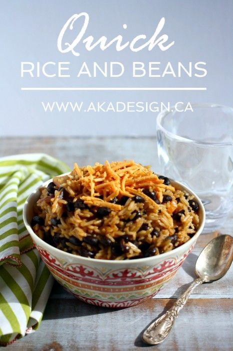 quick rice and baeans an easy inexpensive recipe with twist indian ...