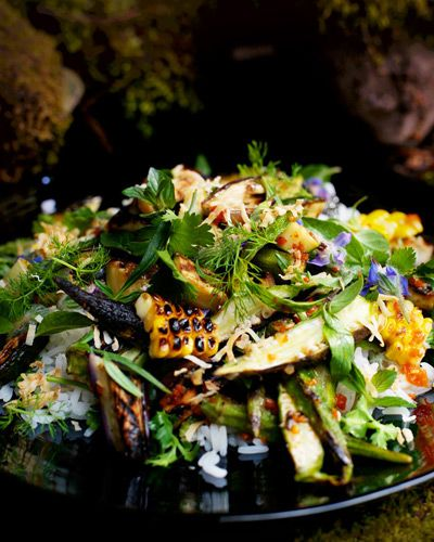 Grilled Vegetable & Rice Salad with Fish-Sauce Vinaigrette