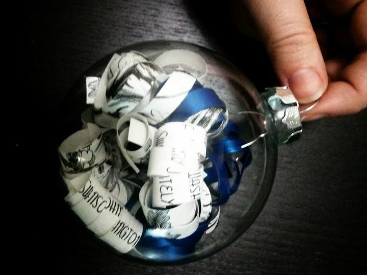 Christmas Ornaments made from my wedding invitations! #christmas #DIY #ornament #wedding