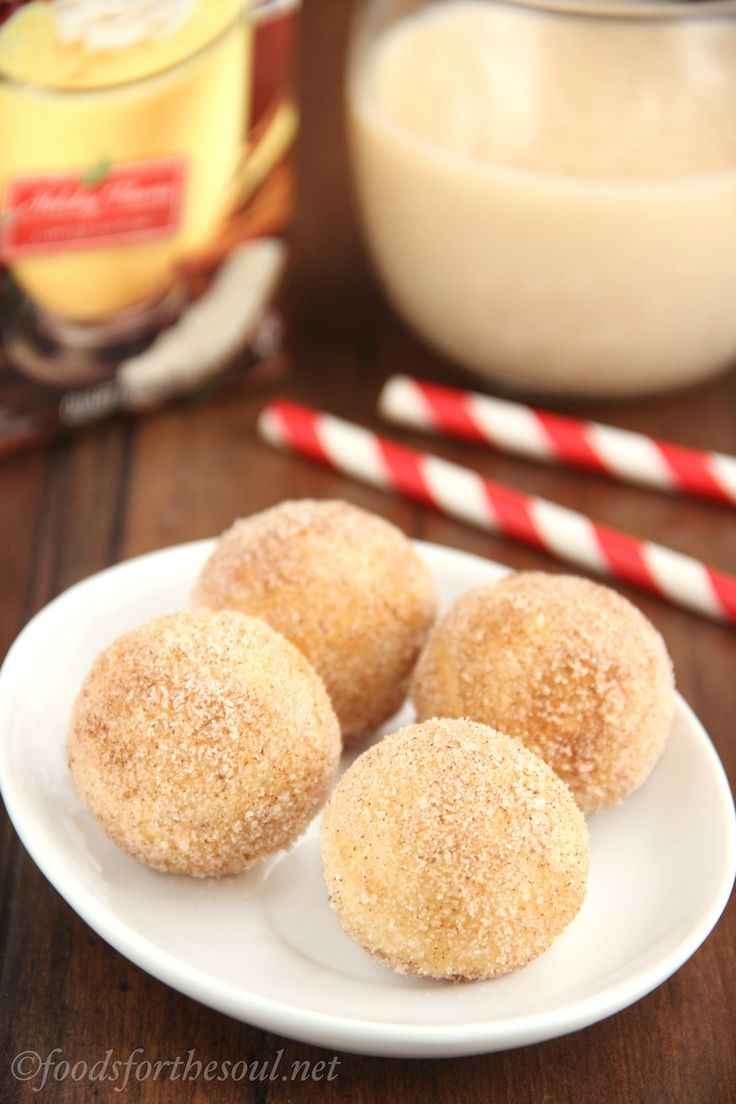 Skinny Eggnog Donut Holes
