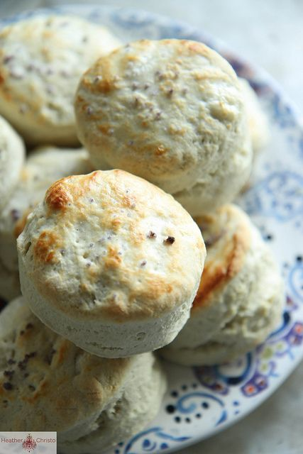Blue Cheese Biscuits by @Heather Christo