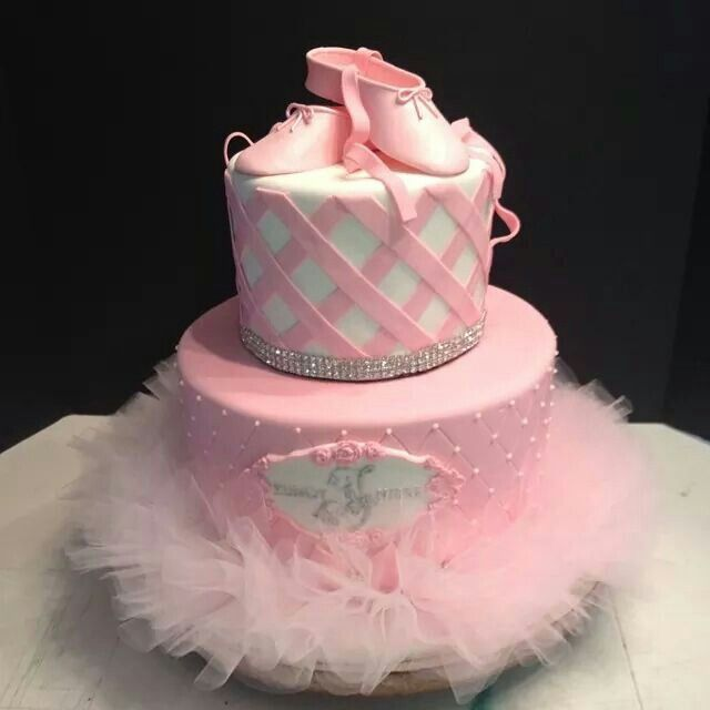 Ballerina baby shower cake cake cookie decorating for Ballerina cake decoration