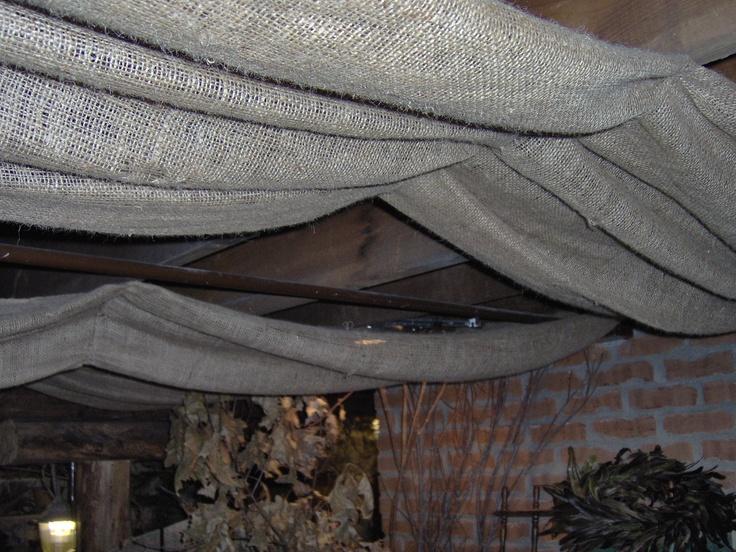 burlap ceiling home diy ideas pinterest