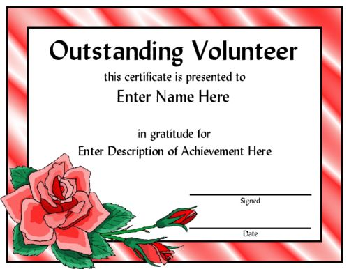 Girl Scout Award Certificate Template | Outstanding Volunteer award ...