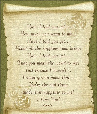 You are my wife poem