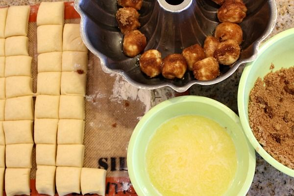 Eggnog Monkey Bread. I love both of those things and monkey bread is ...