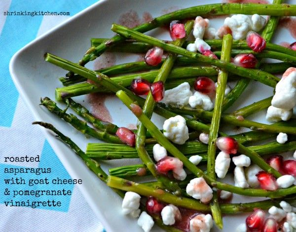 wow? Our Roasted Asparagus with Goat Cheese & Pomegranate Vinaigrette ...