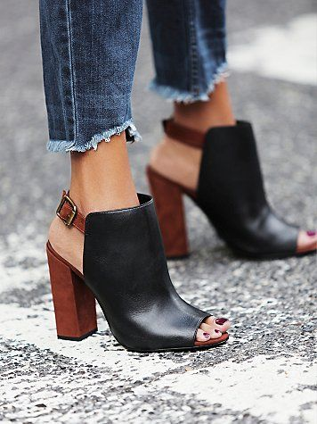 When you can't decide between sandals and booties. Schutz Coast to Coast Heel via Free People. Click to shop.