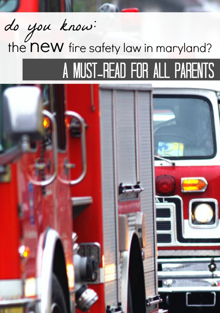do YOU know the new fire safety law in maryland? click to read . . . and grab a new smoke alarm #weteach