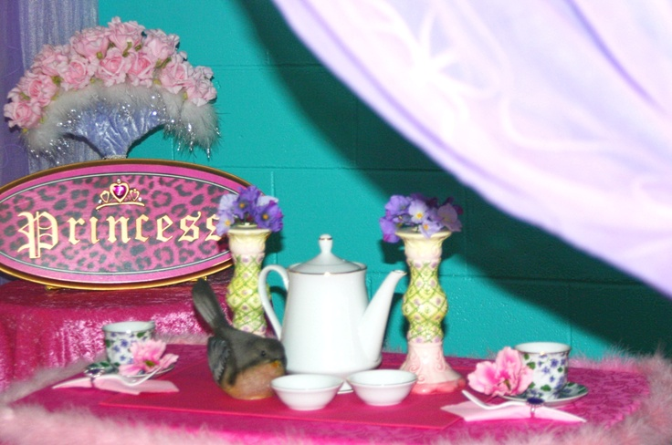 Private Princess Tea party. Simple yet cute set up!