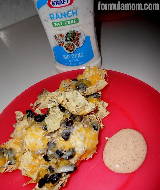 Nachos with Taco Ranch Dip #anythingdressing