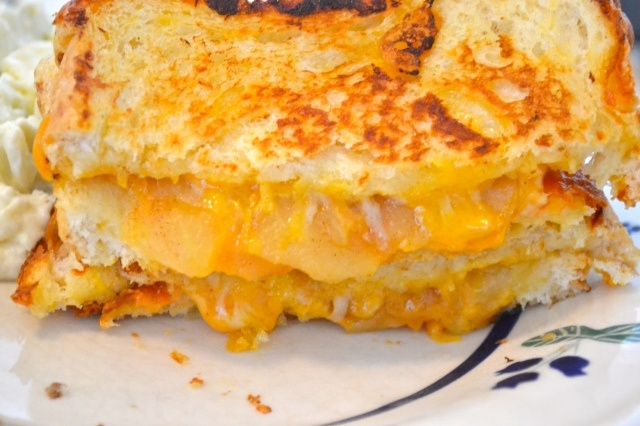 caramelized apple grilled cheese great flavor easy but would grill for ...