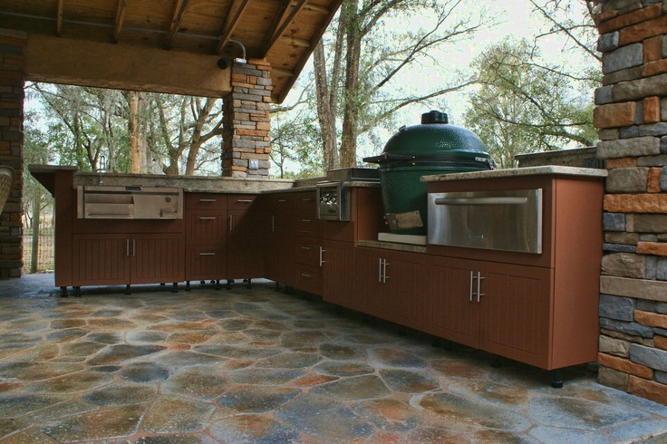 Big Green Egg Kitchen Outdoor Deck Pinterest