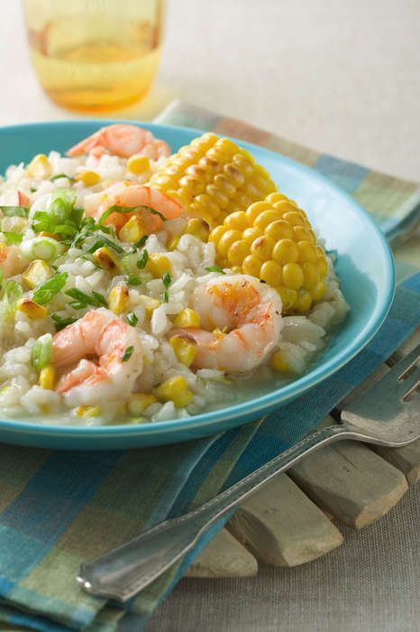 Grilled Sweet Corn and Shrimp Risotto - Sunshine Sweet Corn