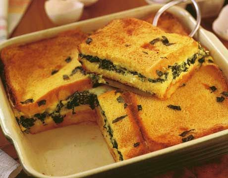 Spinach Strata | Because we love food LOL | Pinterest