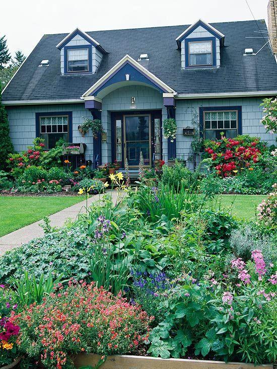 front yard flower gardens