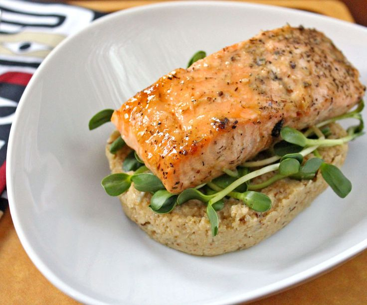 Roasted Salmon with Cauliflower Puree | Food - Seafood for dinner | P ...
