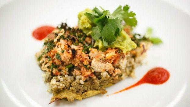 Chef Vikki's Guacamole, Black Bean, and Chicken Burrito Bake ...