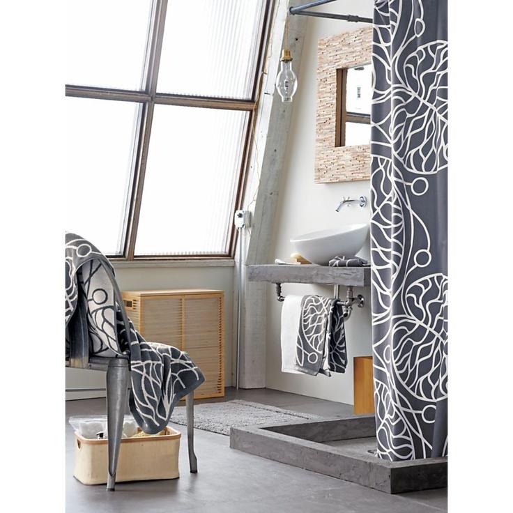 Marimekko Bottna Slate Shower Curtain