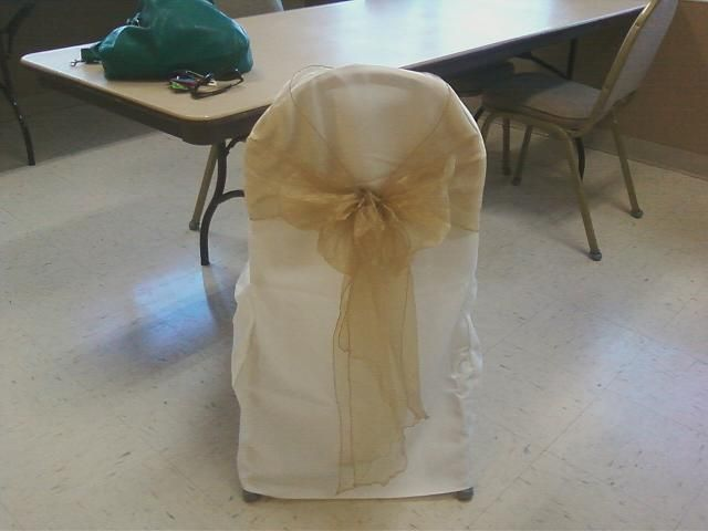 Chair cover and gold bow sash kymberlie s wedding colors pi