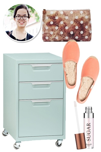 Simple This Cute Cabinet Is Secretly A Filing Cabinet It Rolls Out When