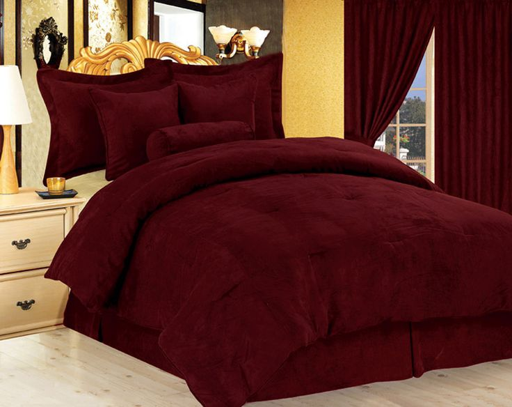 Burgundy And Gold Bed For My Home Pinterest