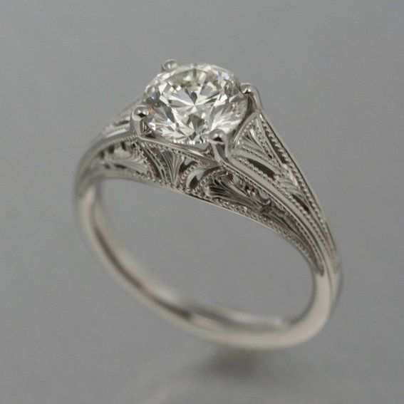 art nouveau engagement ring Pretty Things