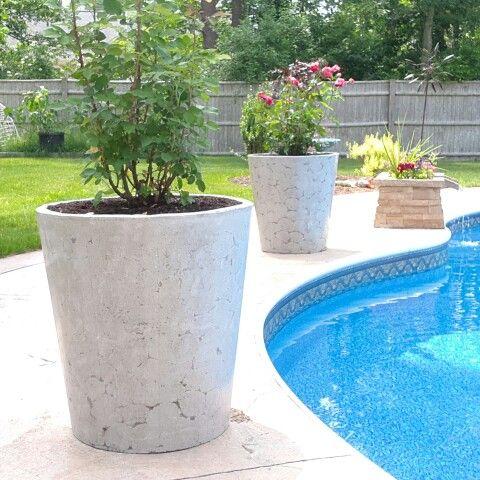 Large concrete planters hypertufa concrete cement Concrete planters