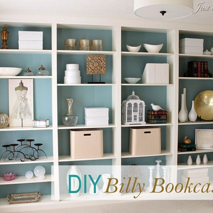 DIY built in bookcases 736 x 736