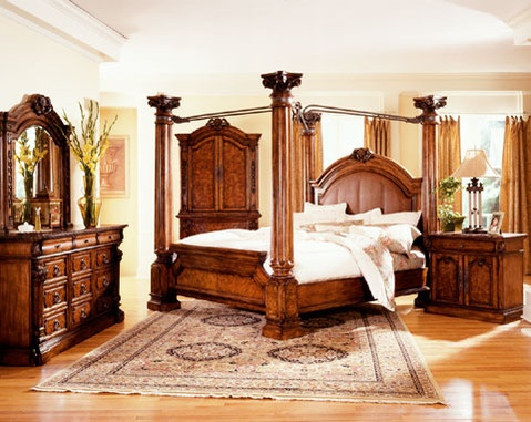 Leather Canopy King Bedroom Master Bedroom Pinterest