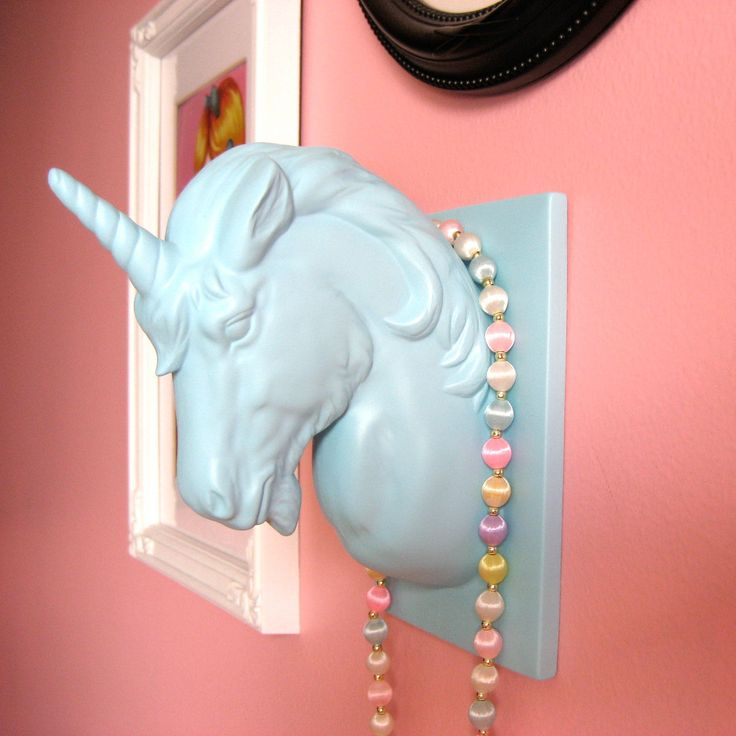 Mounted unicorn head wall hanging jewelry holder made to order 45 00