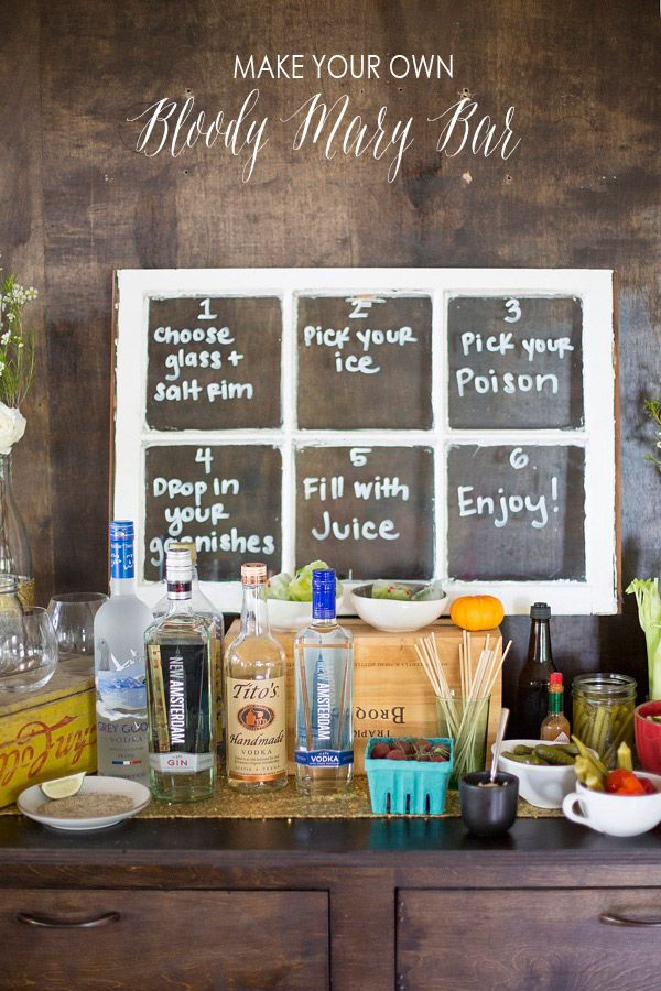 Make your own bloody mary bar for Build your own bar