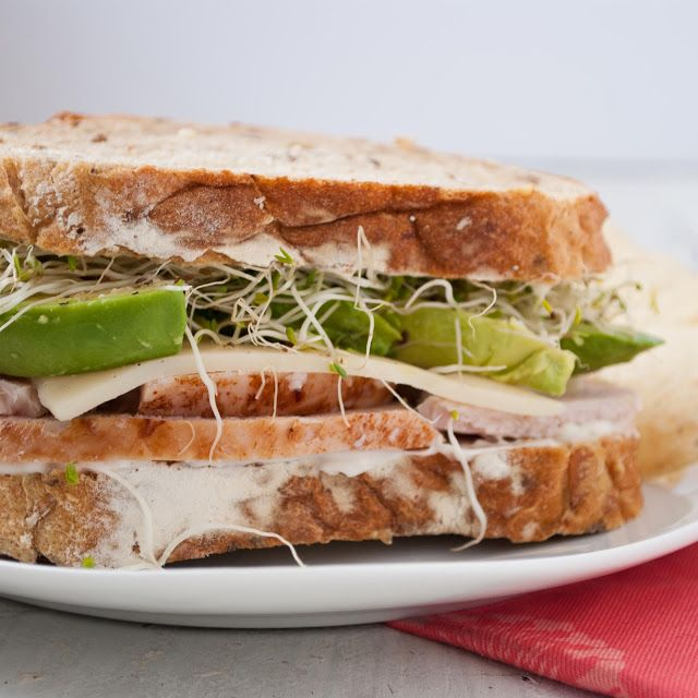 Turkey, Avocado, and Sprout Sandwich | Recipe