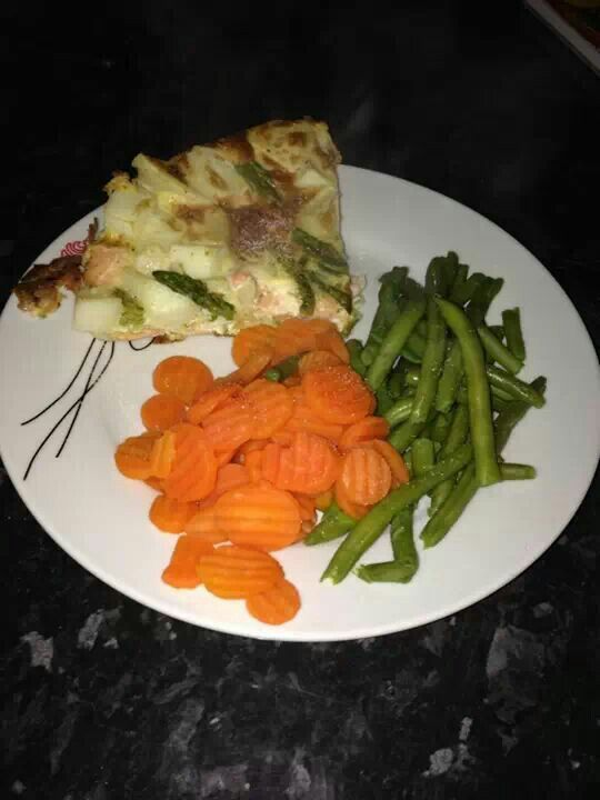 Salmon asparagus frittata veg | Slimming world | Pinterest